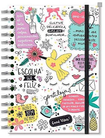Caderno Pontilhado Fina Ideia Beija Flor