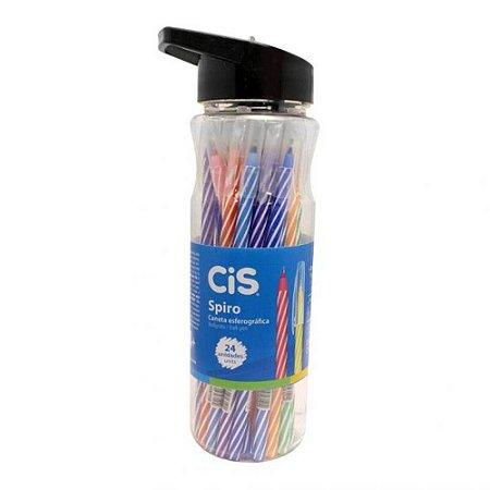 Caneta esferográfica CIS spiro - Pote 24 unidades