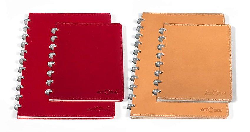 Caderno Atoma Couro Pur A5