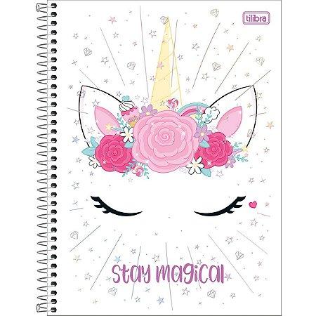 Caderno Universitário Tilibra Blink Unicornio Stay Magical 10 materias