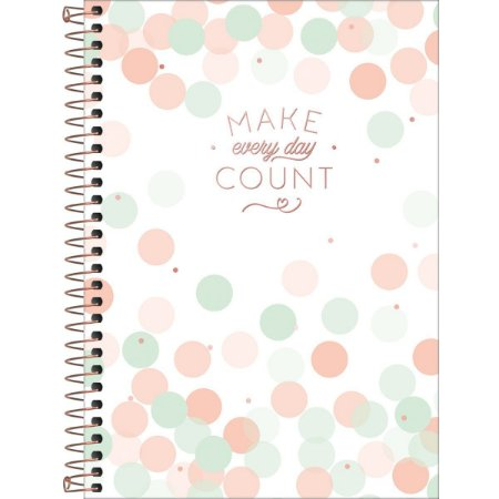 Caderno Tilibra Soho Colegial 10 Materias Make Every Day Count Branco