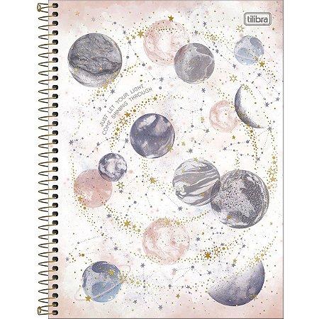 Caderno Universitário 10 Materias Tilibra Magic Just Let Your Light
