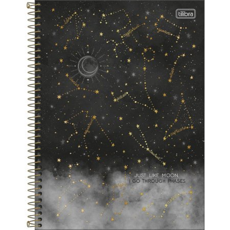 Caderno Universitário 1 Materia Tilibra Magic Just Like Moon