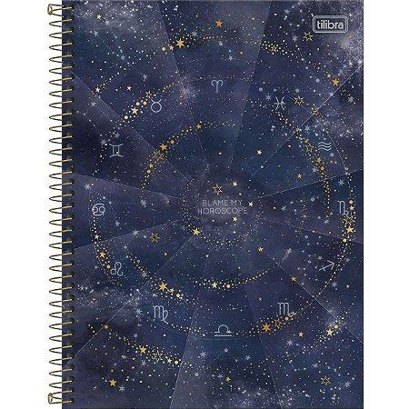 Caderno  Universitario 1 Materia Tilibra Magic Blame My Horoscope