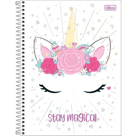 Caderno Universitário Tilibra Blink Unicornio Stay Magical 1 materia