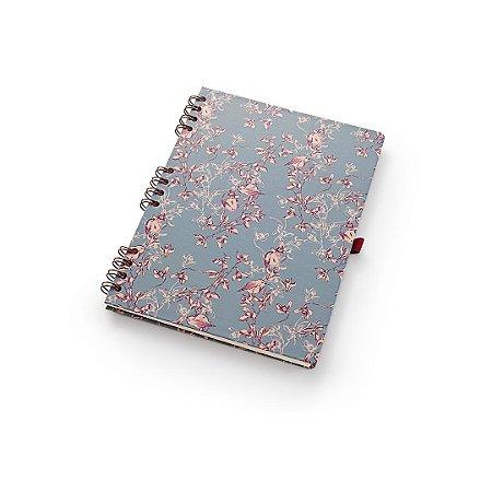 Caderno Otima Floral Azul