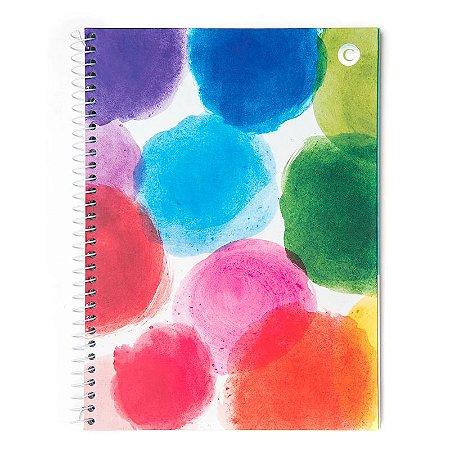 Caderno universitario Cicero Manchas Coloridas