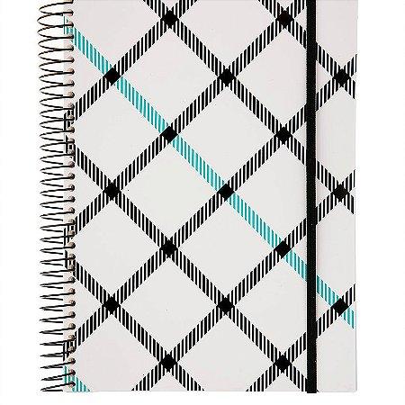 Caderno Universitario Confetti Xadrez Diagonal