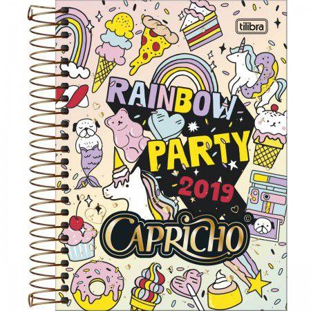 Agenda Diaria Tilibra Capricho 2019 Rainbow Party