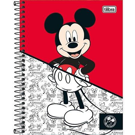 Caderno Colegial Tilibra Mickey 90 Anos Vermelho 10 Materias
