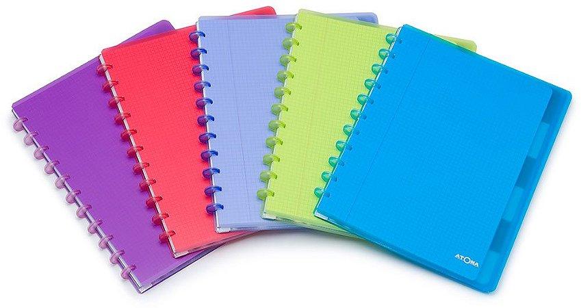 Caderno Atoma Transparent Plus Quadriculado