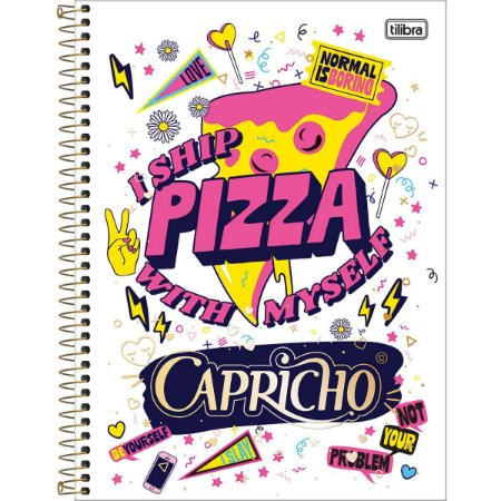 Caderno Universitário Tilibra Capricho Pizza 10 materias