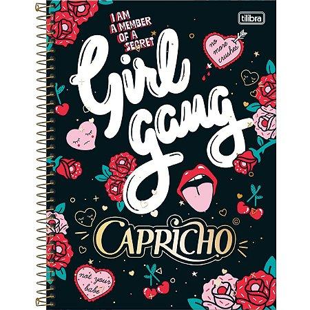 Caderno Universitário Tilibra Capricho Girl Gang 10 materias