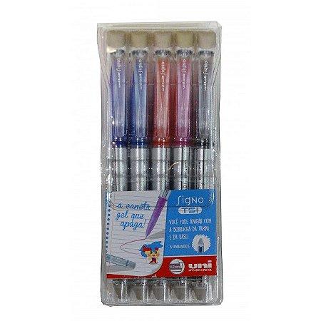 Estojo Uniball Signo TSI Apagável 5 cores