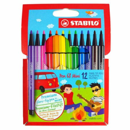 Estojo Stabilo Pen 68 Mini 12 Cores