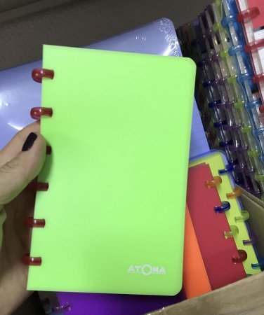 Caderneta Atoma Neon Sem Pauta A6