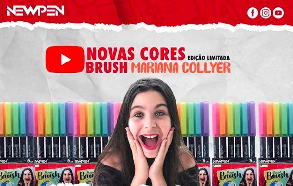 Brush Pen Newpen 6 Cores Pastel Mariana Collyer - Edição Limitada