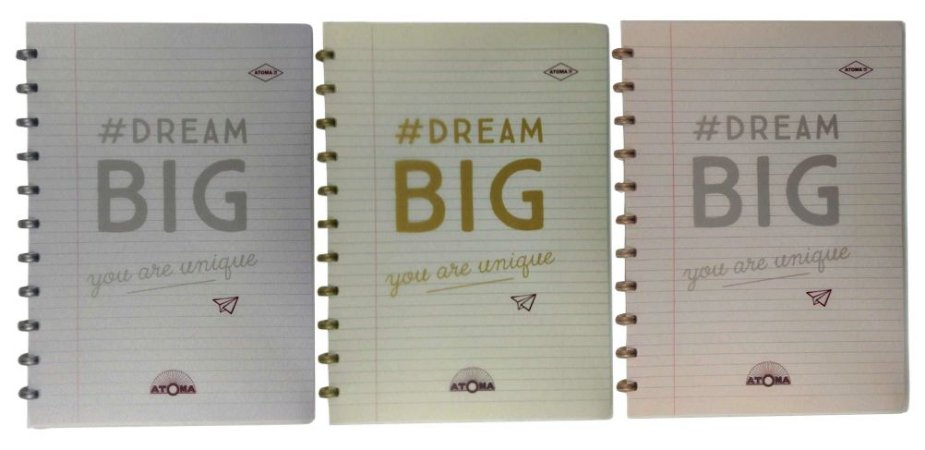 Caderno Atoma HAPPY 70s Dream Big A4