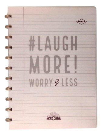 Caderno Atoma HAPPY 70s Laugh More A4