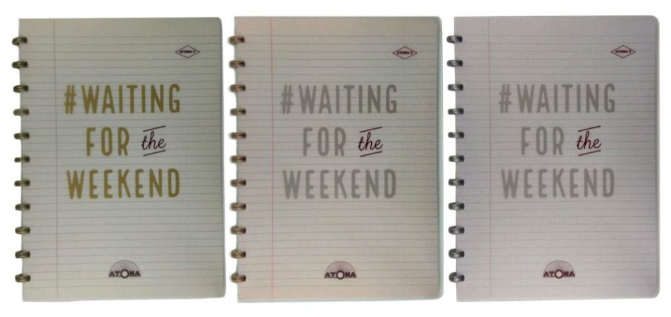 Caderno Atoma HAPPY 70s Weekend A4