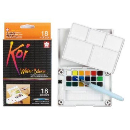 Tinta Aquarela Koi Water Colors 18 Cores