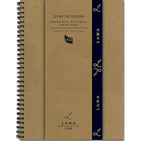 Caderno de desenhos A4 Lana Livre de Dessin 150g