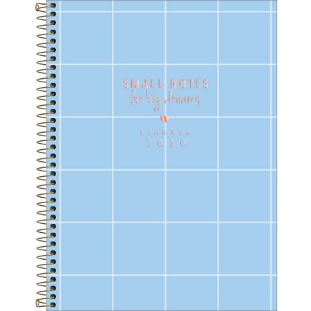 Planner Tilibra Soho 2020 Grande Big Dreams Azul