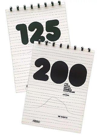 Caderno de Desenho A4 Atoma 125g 40 folhas