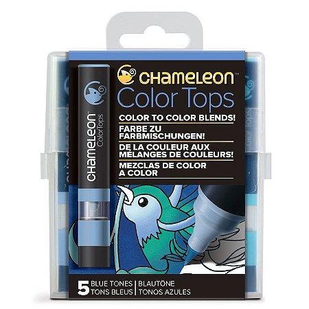 Marcadores Chameleon Color Tops - Tons de Azul