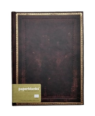 Caderno Premium Paperblanks Old Leather Classics Black Moroccan