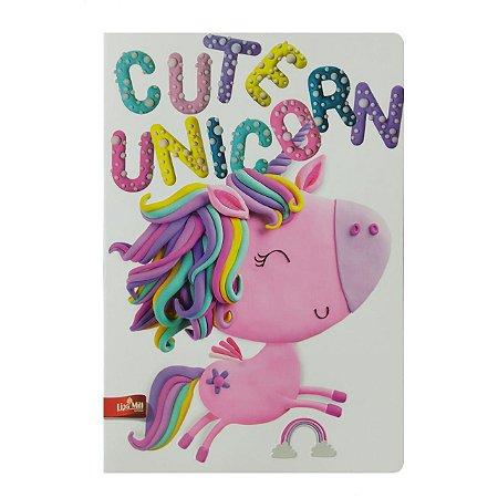 Caderno MarMar Zoo A4 Pautado Cute Unicorn