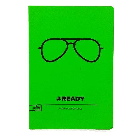 Caderno MarMar Fluo A4 Pautado Verde
