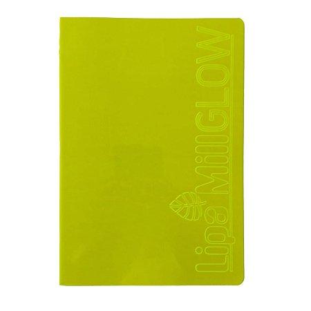 Caderno MarMar Glow A4 Sem Pauta Amarelo
