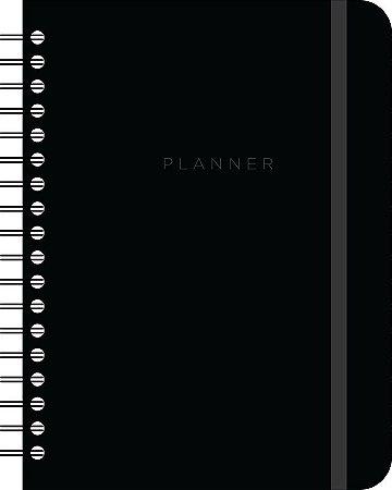 Planner Semanal Cicero Clássico Preto A5