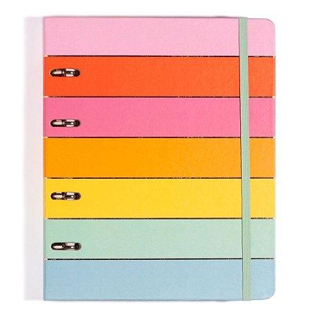 Caderno Argolado Cicero Todas Juntas Arco Iris 17x24cm