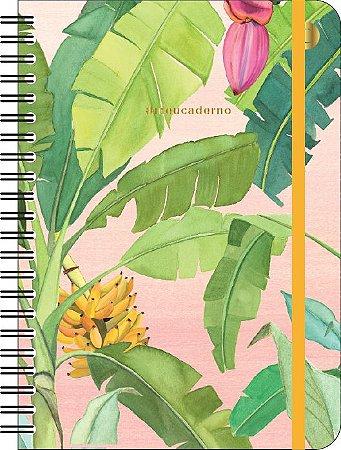 Caderno Cicero Jardins Banana Colegial Pautado