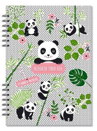 Planner Compacto mensal Panda Fina Ideia