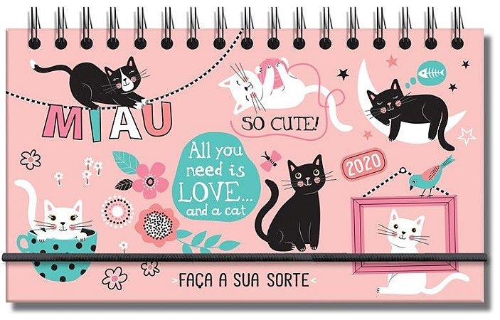 Agenda Mini Gatos Fina Ideia