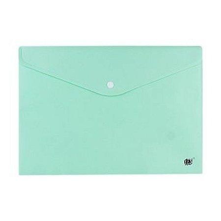 Pasta Envelope com Botao Oficio Verde Pastel Yes