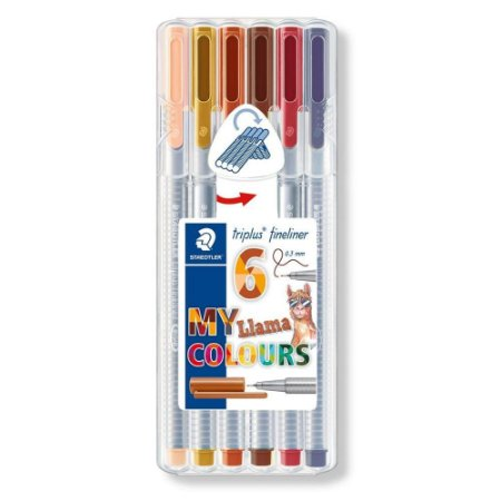 Caneta Staedtler Triplus Fineliner Lhama Colors 6 cores
