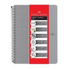Caderno Grip Faber Castell Pautado 80fls Prata A4