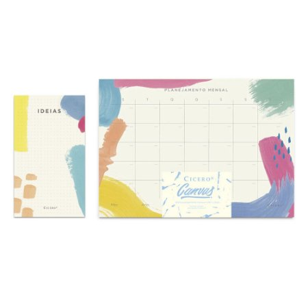 Kit Blocos Cicero Canvas Planner Mensal + Ideias