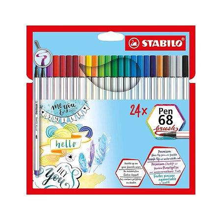Stabilo Brush Pen 68 Kit 24 canetas
