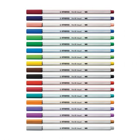Stabilo Brush Pen 68 Cores Avulsas