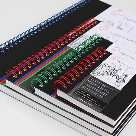 Caderno de Desenho Hahnemuhle A5 120g Style Sketch Espiral Azul