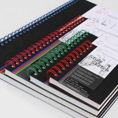 Caderno de Desenho Hahnemuhle A6 120g Style Sketch Espiral Vermelha