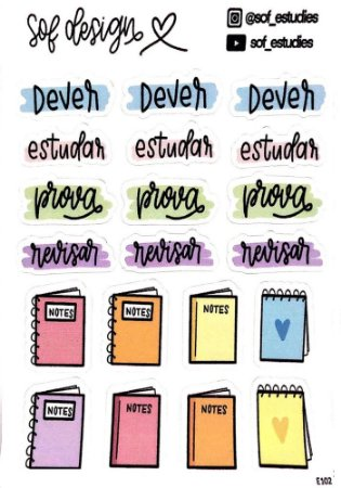 Cartela de Adesivos Decorados Sof Design - E102