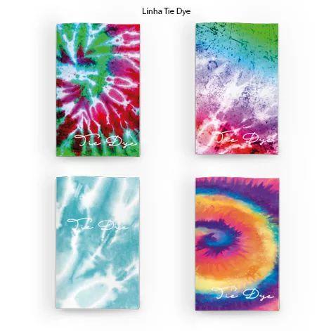 Caderneta Tie Dye EverTop conjunto com 4