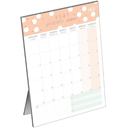 Calendario de Mesa Planner Tilibra Soho 2021