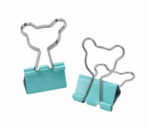 Clips de Papel Binder Urso 25mm Molin Kit c/4